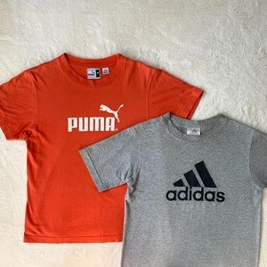PUMA and ADIDAS tee shirt bundle